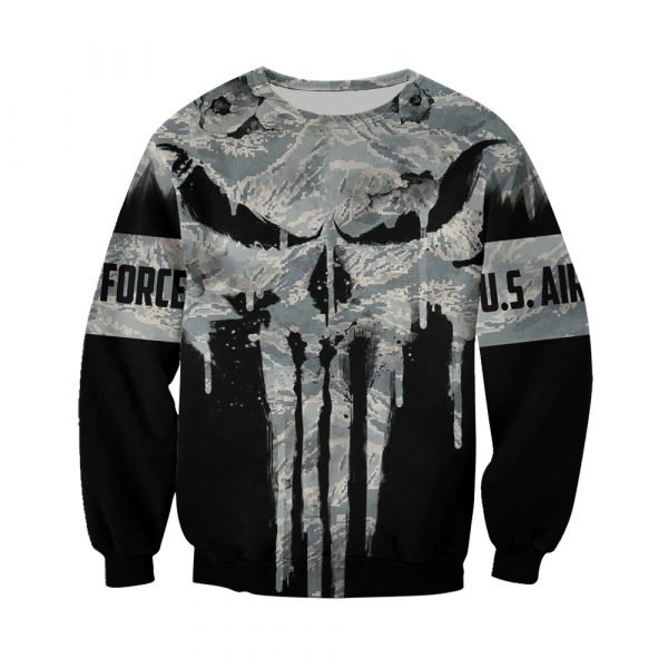 US air force punisher all over printed sweatshirt