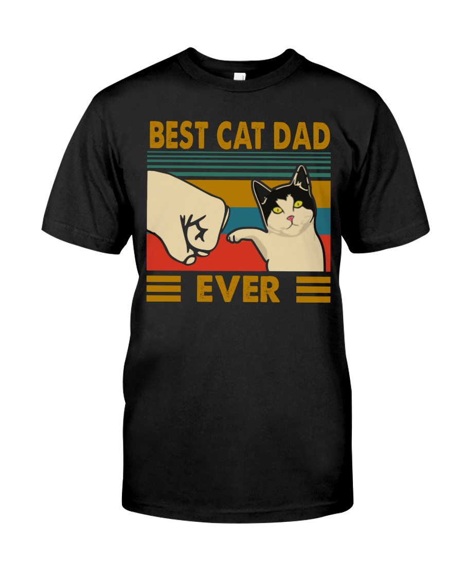 Vintage best cat dad ever guy shirt