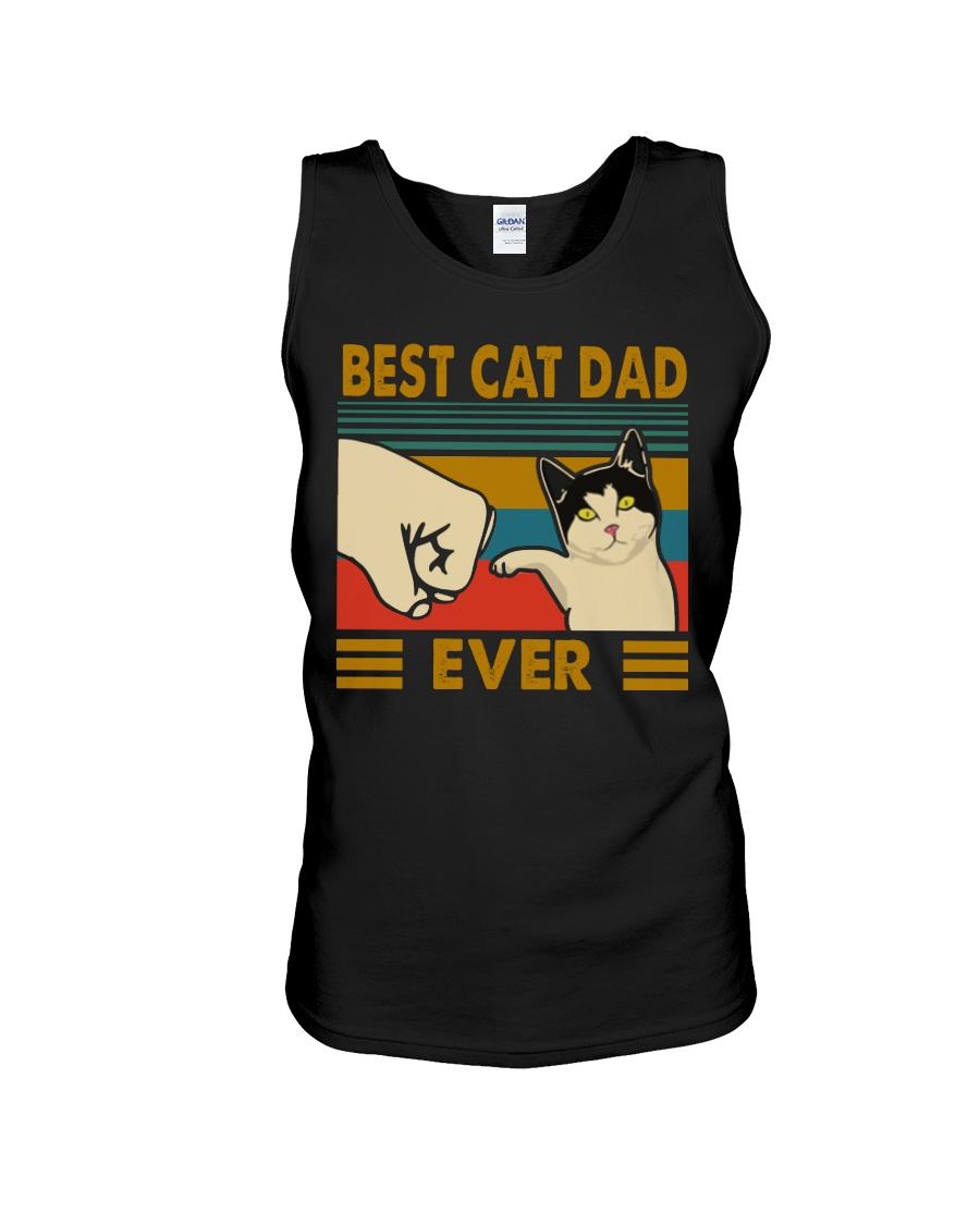Vintage best cat dad ever tank top