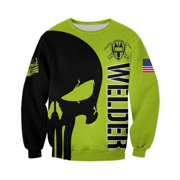 Welder punisher full printing sweatshirt