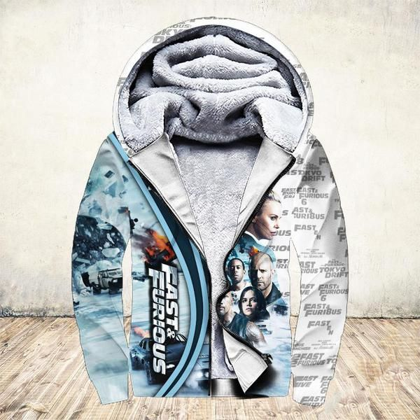 19 years of fast and furious thank you for the memories full printing fleece hoodie