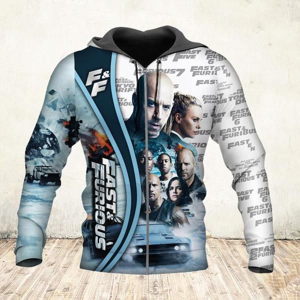 19 years of fast and furious thank you for the memories full printing zip hoodie