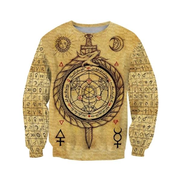 Alchemy dragon full printing sweatshirt
