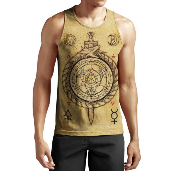 Alchemy dragon full printing tank top