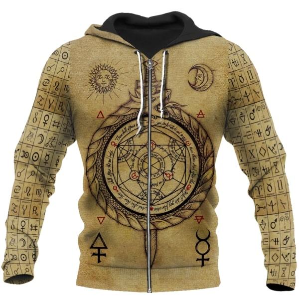 Alchemy dragon full printing zip hoodie