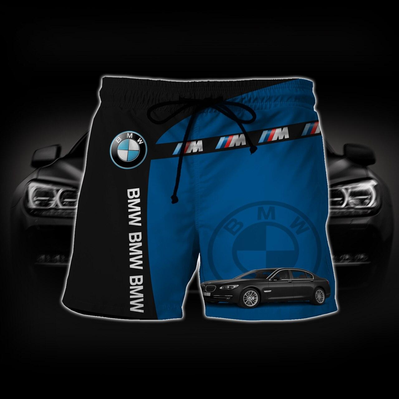 Baby groot hold bmw logo full printing shorts