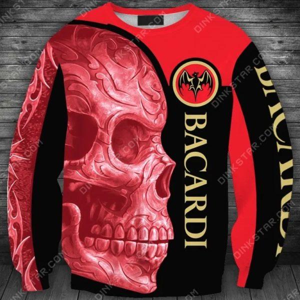 Bacardi sugar skull all over print sweatshirt