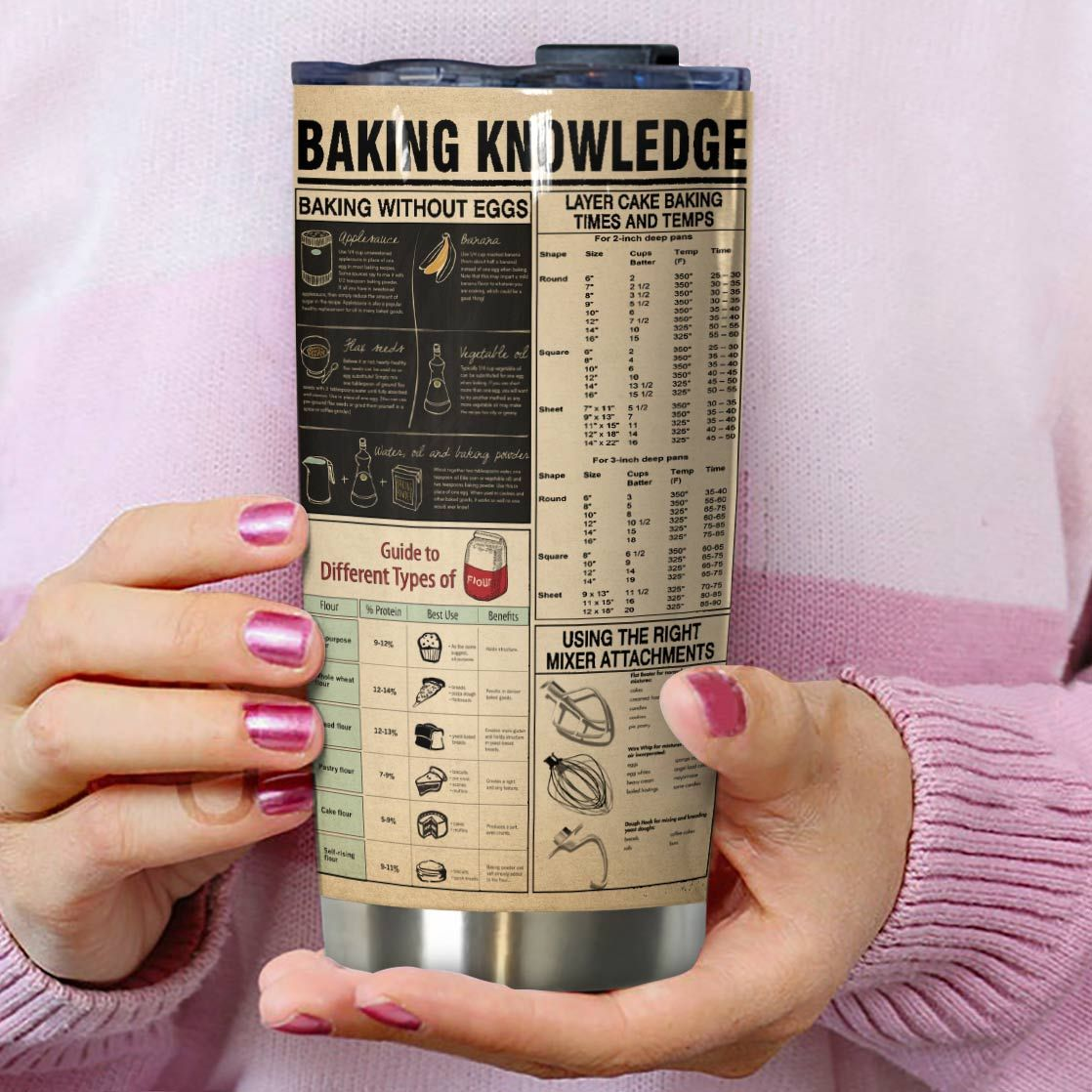 Baking is my therapy baking knowledge full over print tumbler 2