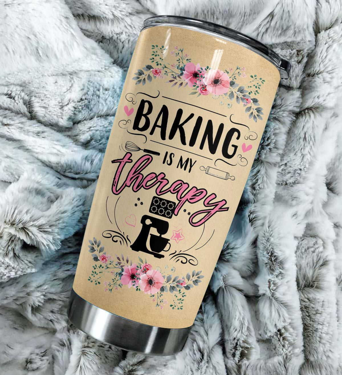 Baking is my therapy baking knowledge full over print tumbler 3