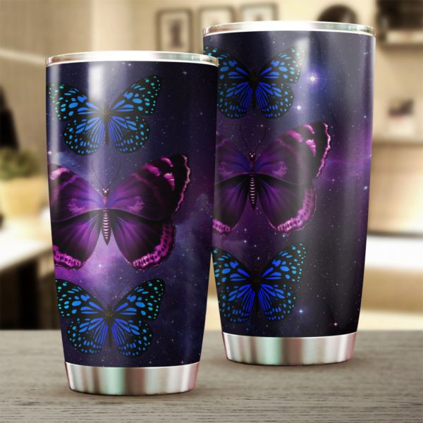 Butterfly night stainless steel tumbler 1