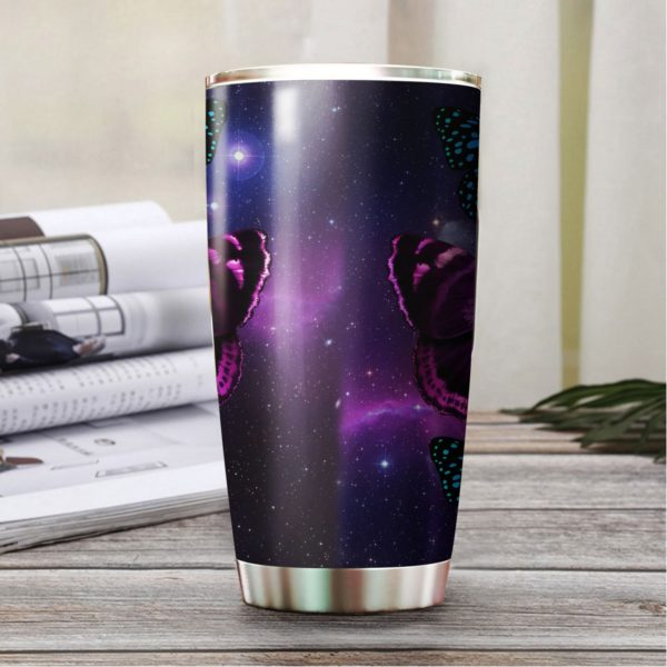Butterfly night stainless steel tumbler 4