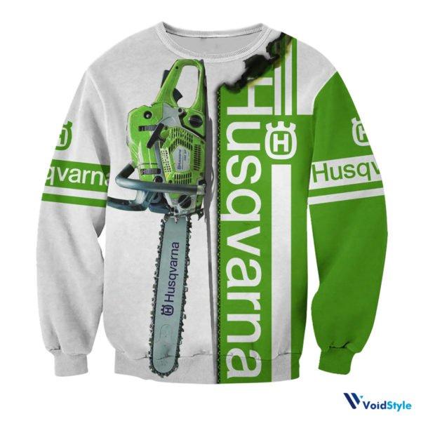 Chainsaw husqvarna full printing sweatshirt