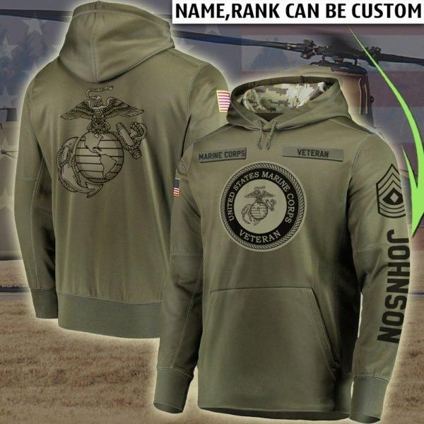 Custom united states marine corps all over printed hoodie