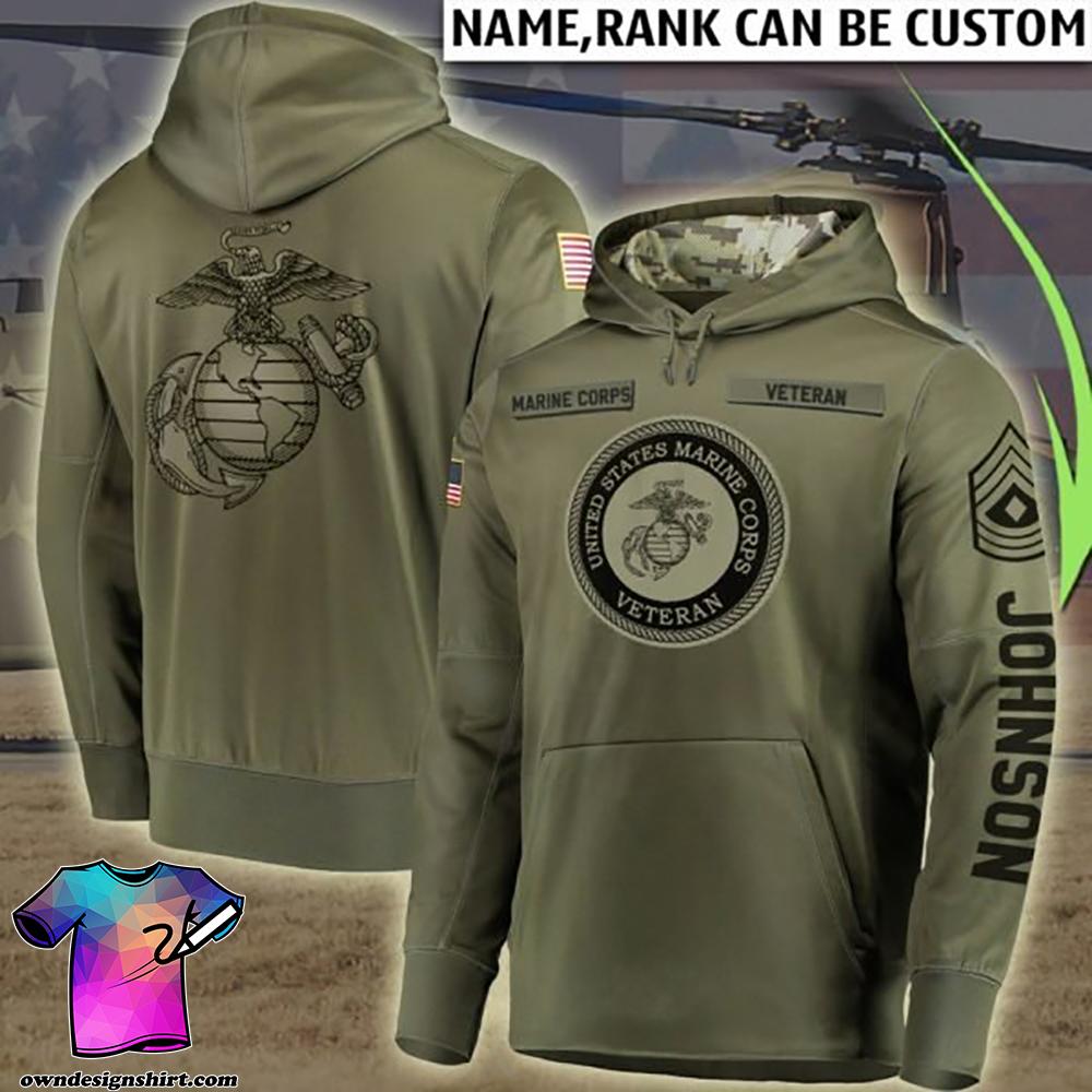 Custom united states marine corps all over printed shirt