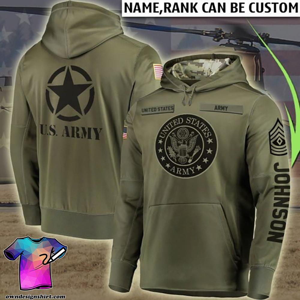 Custom us army all over printed shirt