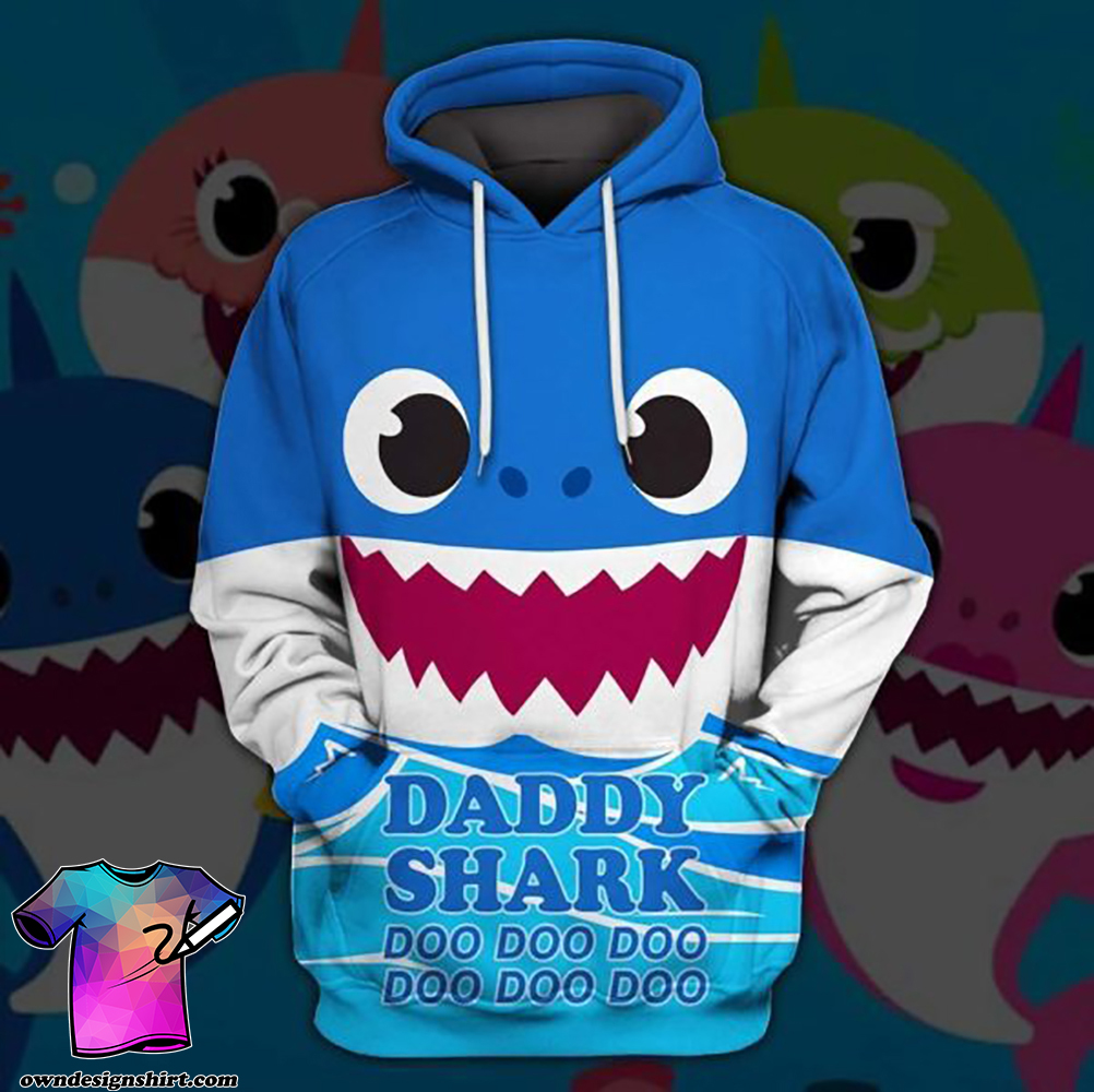 Daddy shark doo doo doo doo full printing shirt