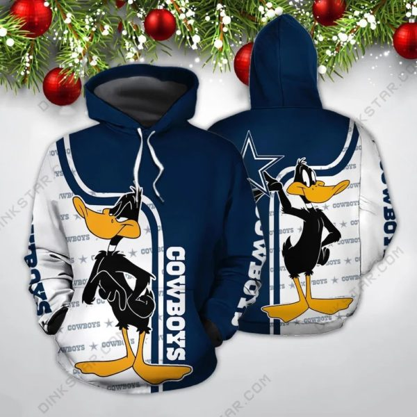 Dallas cowboys nfl daffy duck full printing hoodie