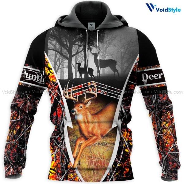 Deer hunting hunt season all over print hoodie
