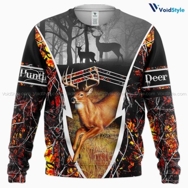 Deer hunting hunt season all over print sweatshirt
