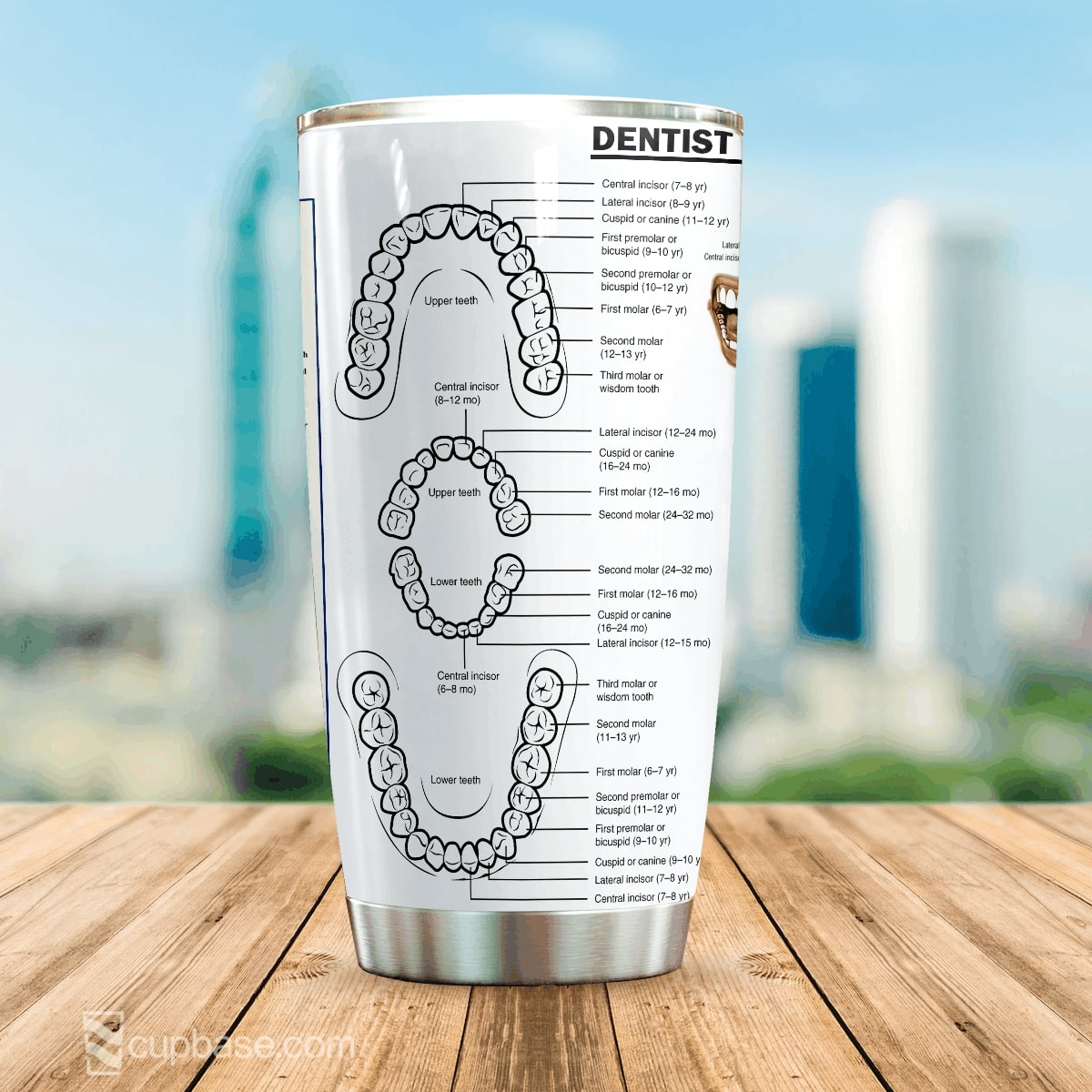 Dentist knowledge all over print tumbler 4