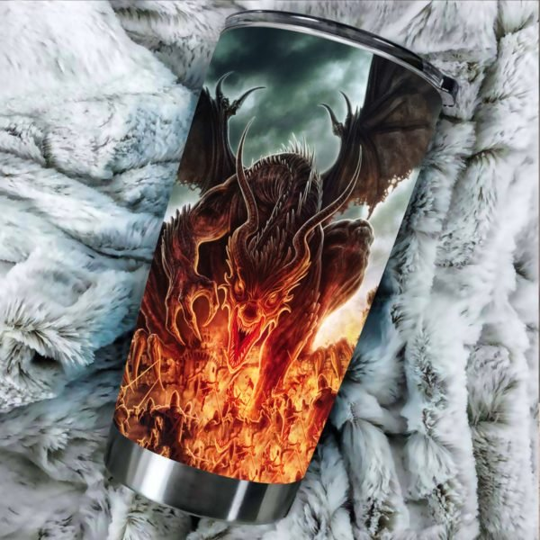 Dragon fire stainless steel tumbler 1