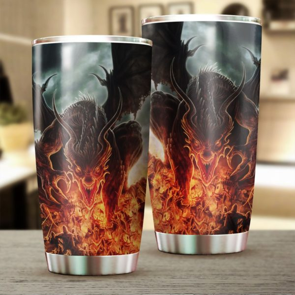 Dragon fire stainless steel tumbler 4