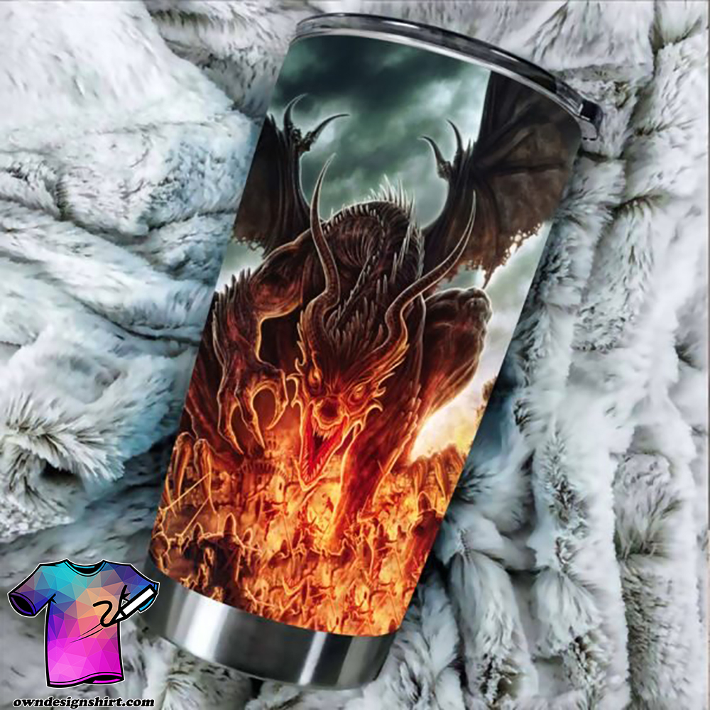 Dragon fire stainless steel tumbler