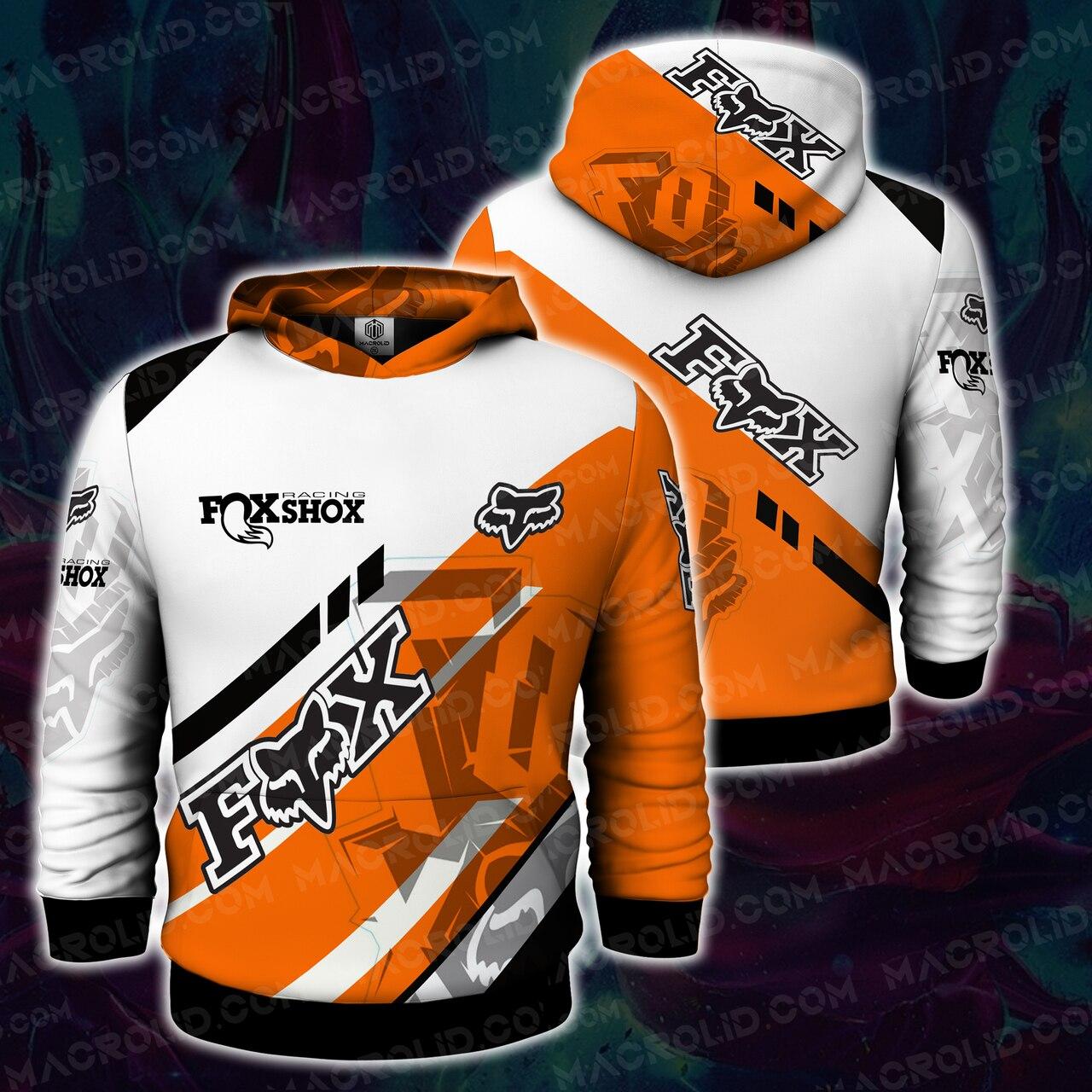 Fox racing motocross full printing hoodie