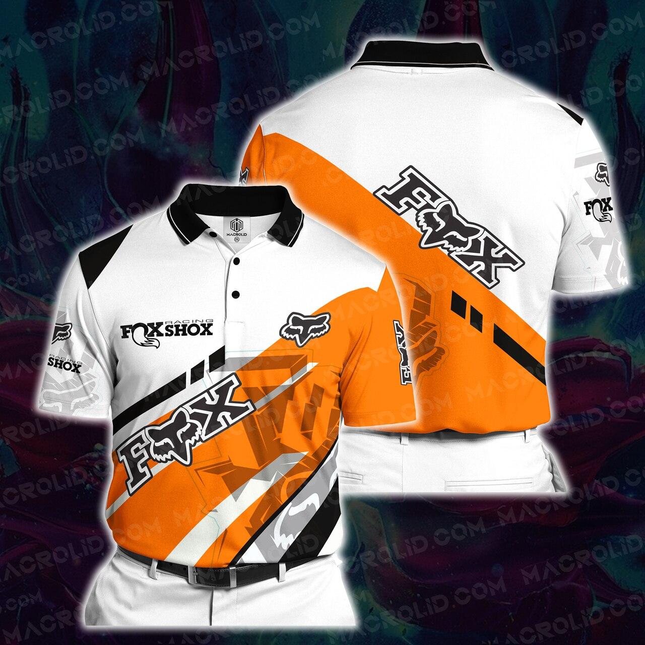 Fox racing motocross full printing polo
