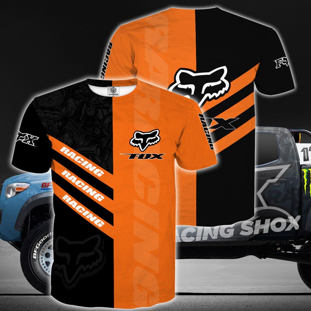 Fox racing riding logo full printing tshirt