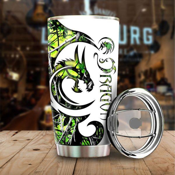 Green dragon stainless steel tumbler 4