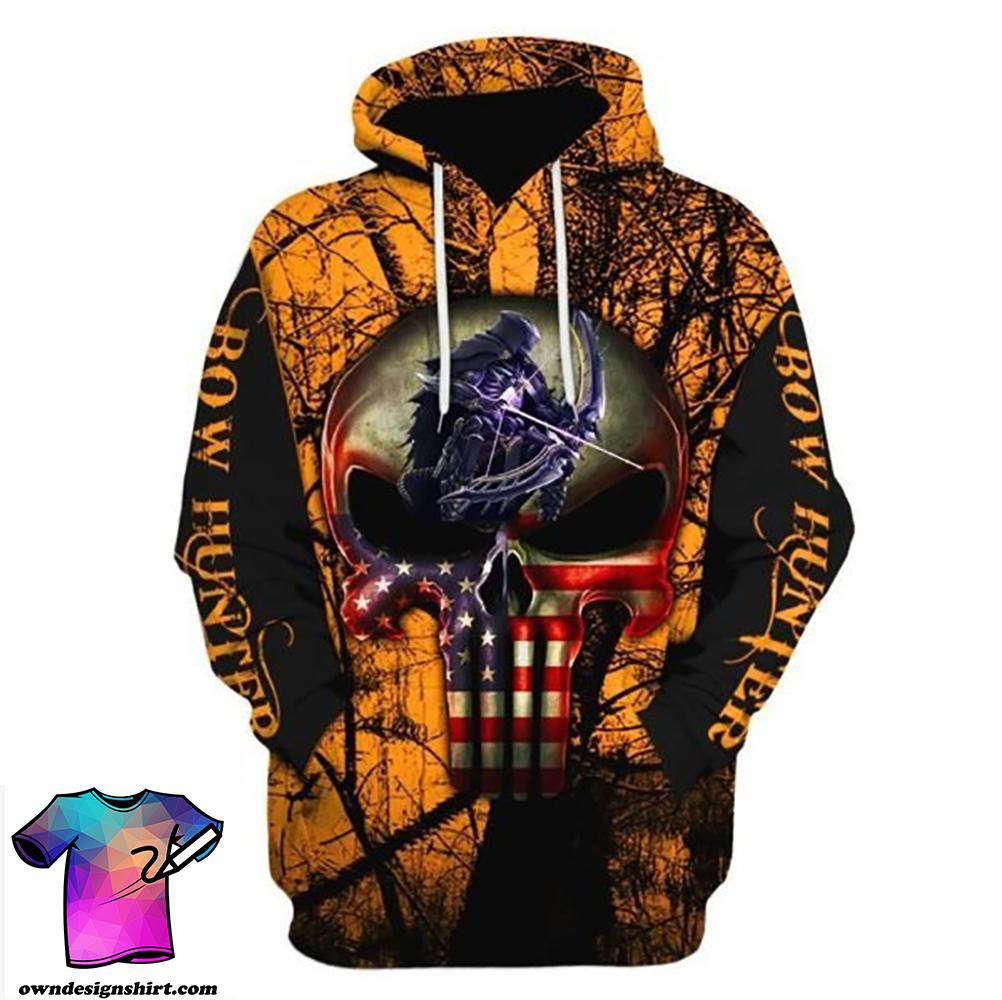 Grim reaper bow hunter full printing shirt