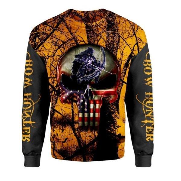 Grim reaper bow hunter full printing sweatshirt