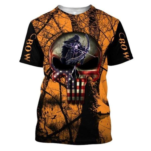 Grim reaper bow hunter full printing tshirt