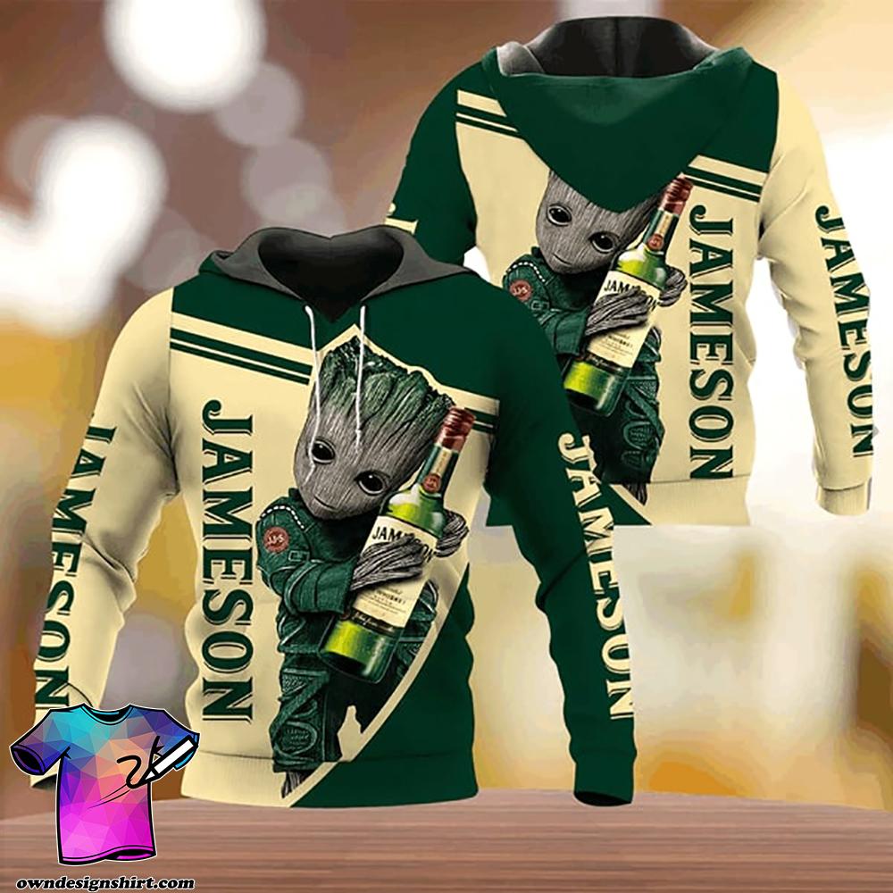 Groot hold jameson whisky full printing shirt