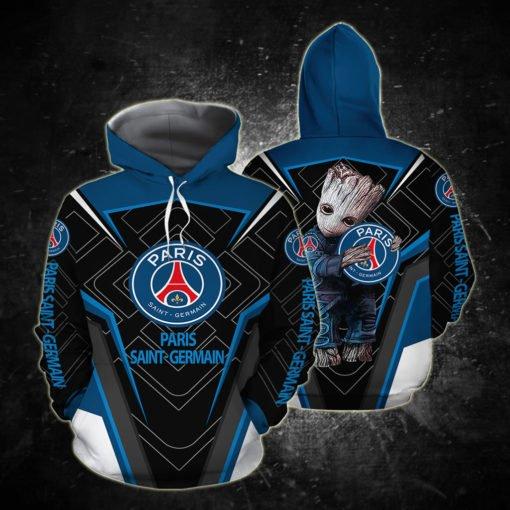 Groot paris saint-germain full printing hoodie