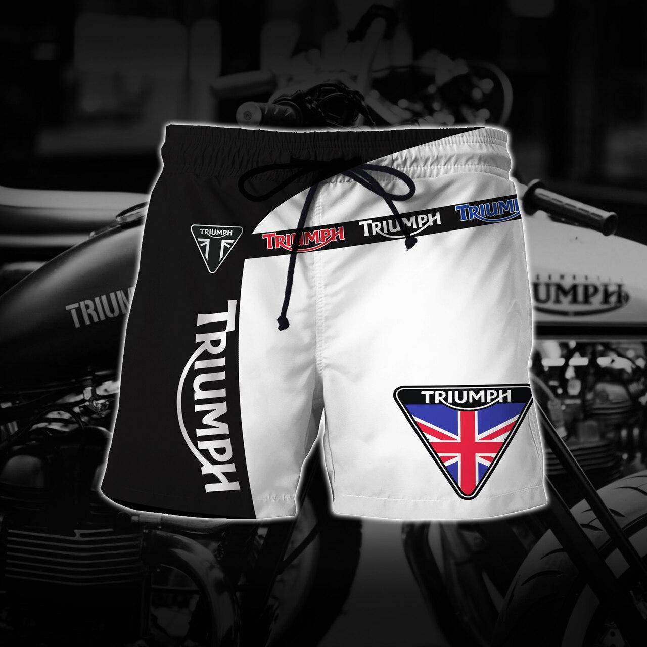 Groot triumph motor logo full printing shorts