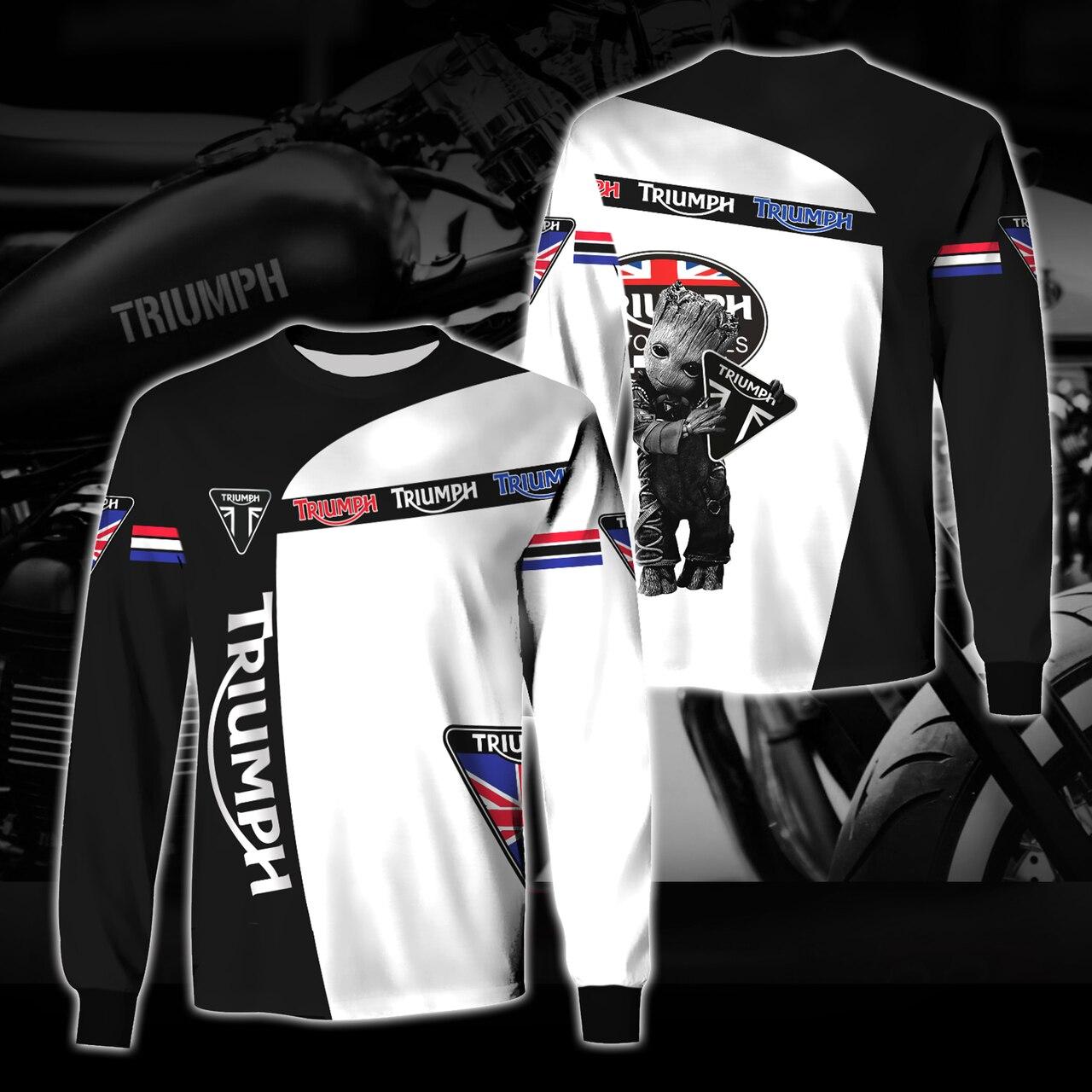Groot triumph motor logo full printing sweatshirt