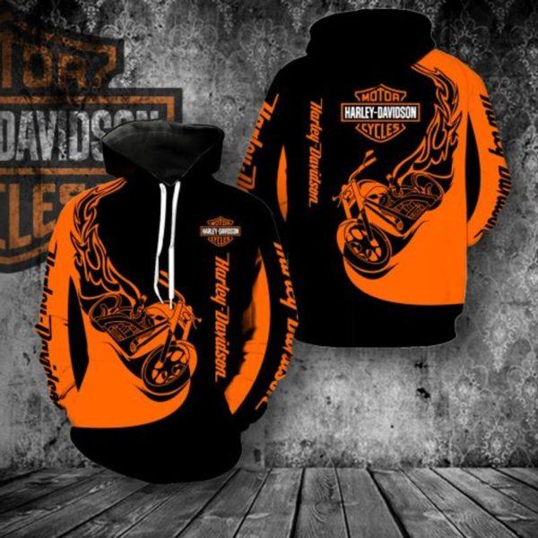 Harley-davidson motorcycles 3d full printing hoodie