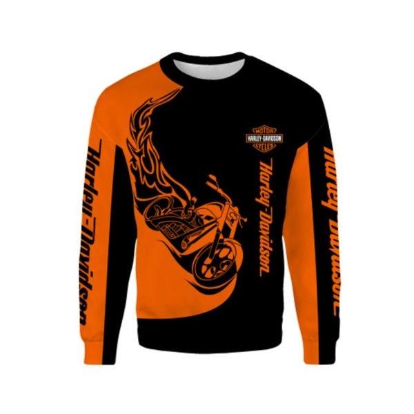 Harley-davidson motorcycles 3d full printing sweatshirt