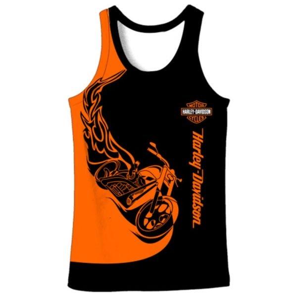 Harley-davidson motorcycles 3d full printing tank top