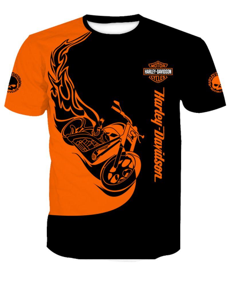 Harley-davidson motorcycles 3d full printing tshirt
