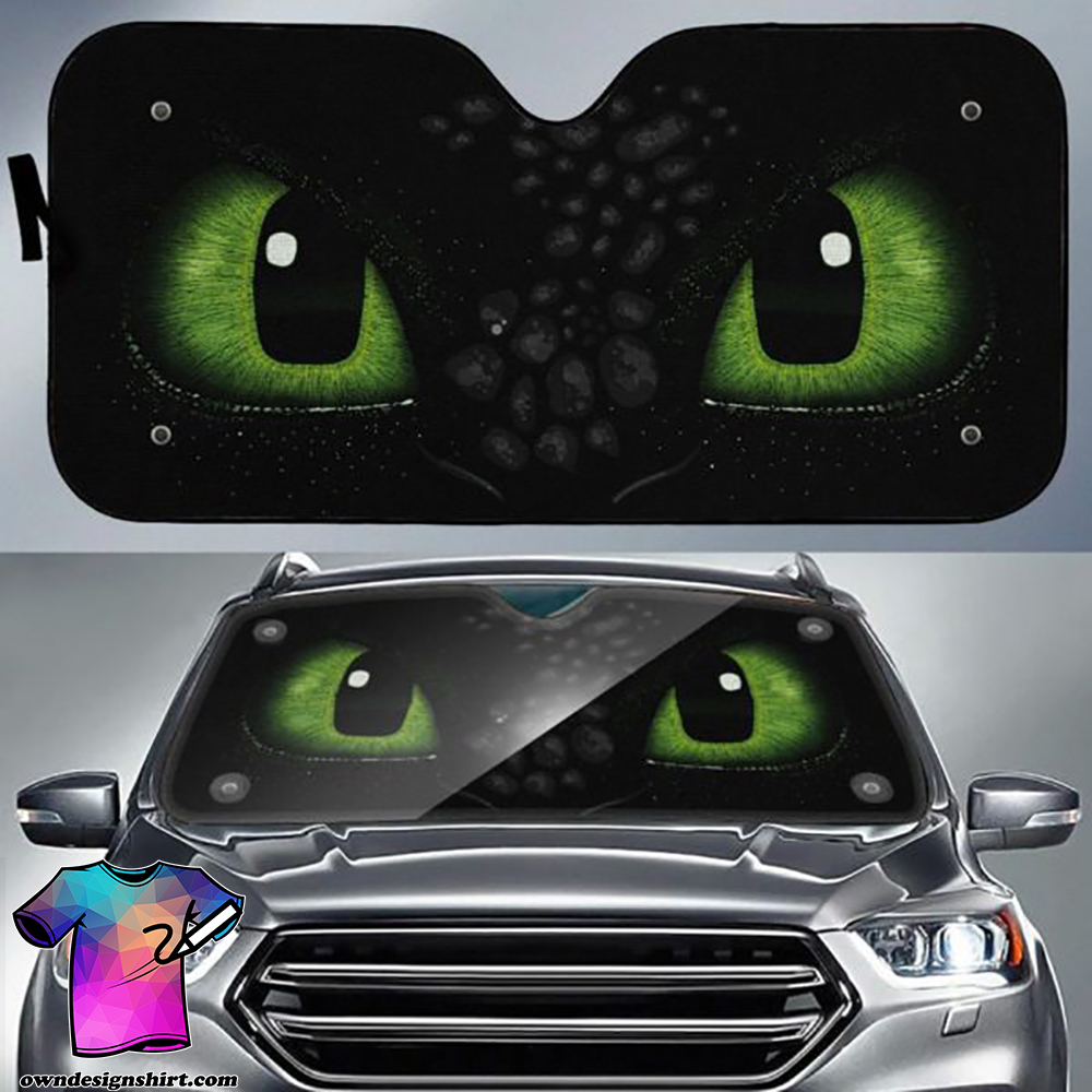 How to train your dragon toothless eyes auto sun shade