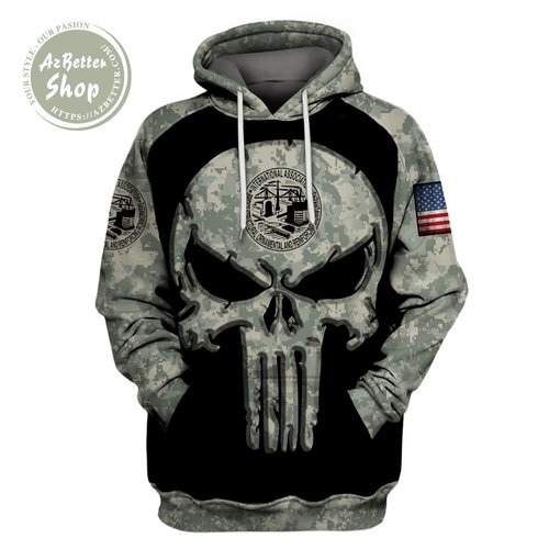 Ironworker camo all over printed hoodie