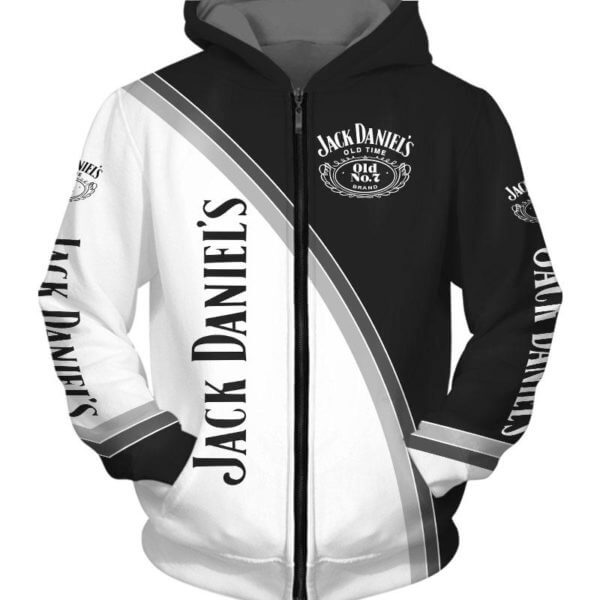 Jack daniel's old time tennessee whiskey full printing hoodie