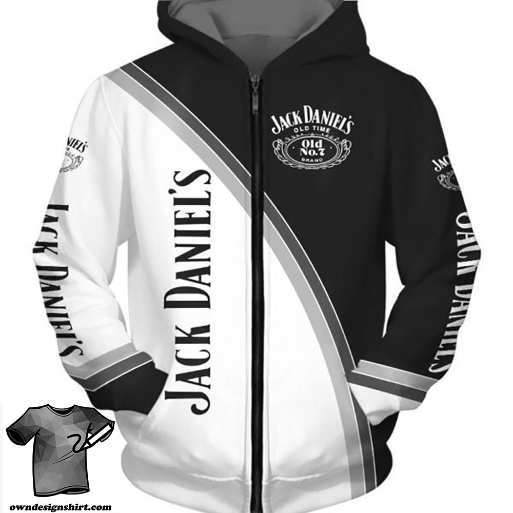 Jack daniel's old time tennessee whiskey full printing shirt