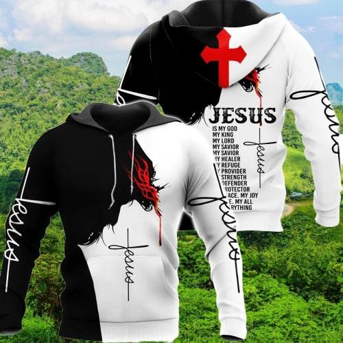 Jesus Is my god my king my lord full printing hoodie