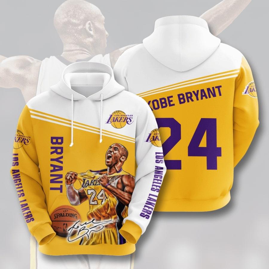 Legend kobe bryant 24 full printing hoodie 3