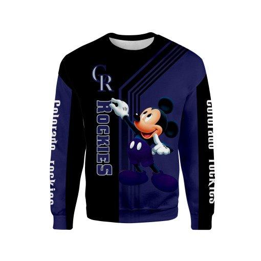 Mickey mouse colorado rockies mlb all over print sweatshirt