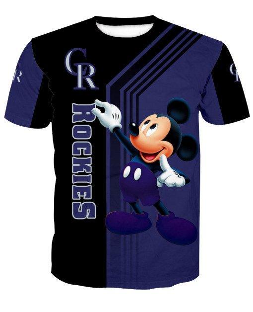 Mickey mouse colorado rockies mlb all over print tshirt